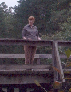 Jane on Hawkin Bridge in the Beautiful NJ Pinelands